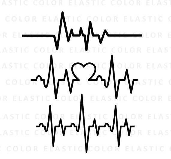 heartbeat svg ekg svg heartbeat line clipart cardiogram rh etsy com ekg clip art free heart ekg clip art