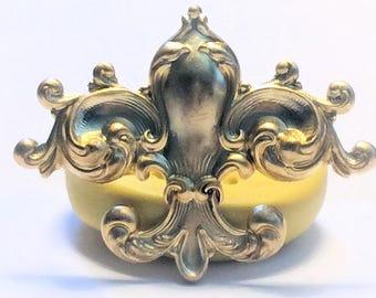 Large Ornate Fleur De Lis silicone rubber mold