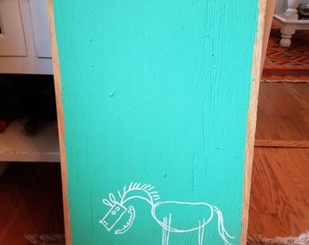 Alabama Twangelism Artist Butch Anthony Horse Painting on Plywood Board Folk Art