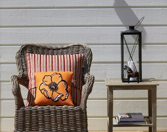 POPPY,cross stitch pattern,embroidery pattern,cross stitch,needlepoint pillow,needlepoint,needlepoint pattern,swedish,anette eriksson,orange