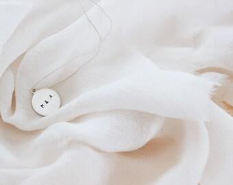 Hand-Stamped Metal Charm / Wedding Invitation Addition /  Wedding Invitation Personalization