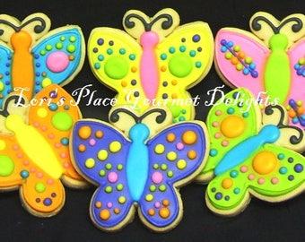 Buterfly Cookies - Whimsical Butterfly Cookies - 12 - Cookies