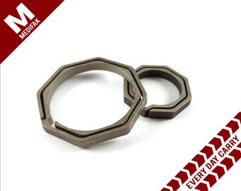 Titanium Split Ring Key Ring Every Day Carry Key Shackle Keychain Attachment EDC Gear Men's Gift Minimalist Style