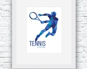 Tennis Digital Print, Ten...