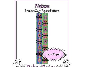 Bead Pattern Peyote(Bracelet Cuff)-Nature