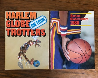 Two Harlem Globetrotters Tour Books 1970 1980 Basketball