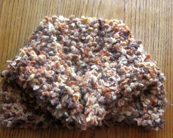 Handmade Cowl Neck Warmer Earth Tone Colors