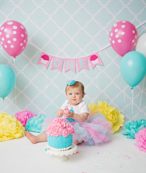 1st Birthday Banner Girl First