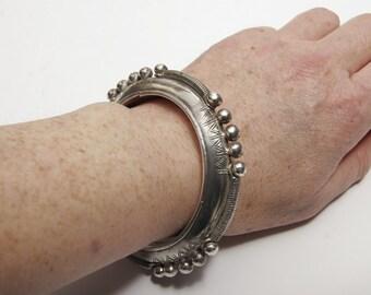 High grade silver Saharan bangle