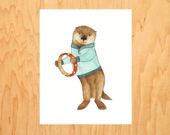 Otter on Tambourine
