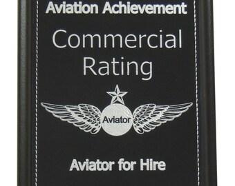 Commercial Pilot Rating, Aviation Accomplishment Plaque