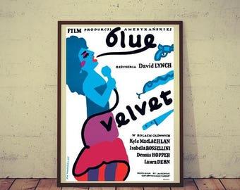 Polish Movie Poster BLUE VELVET Polish 26.7x38.5 '87 directed by David Lynch, Isabella Rossellini, different Mlodozeniec art!