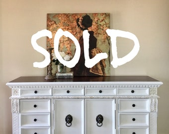 Gorgeous Antique Buffet, Credenza, Sideboard