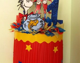 Cat In The Hat Handmade 1st Birthday Child Pinata