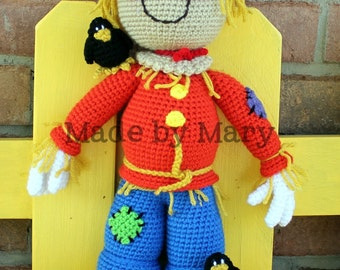 PDF PATTERN: Sawyer the Scarecrow *Crochet Pattern Only, Not Actual Doll* Crochet Scarecrow