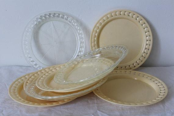 & vintage plastic plates