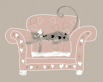 Muffin the Cat - Cute and Quirky Cat Card (Blank Inside)