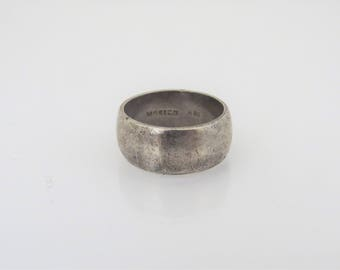 Vintage Sterling Silver Band Ring Size 6.5