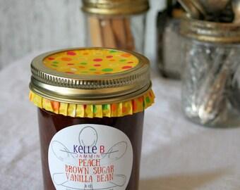Peach Brown Sugar Vanilla Bean Jam