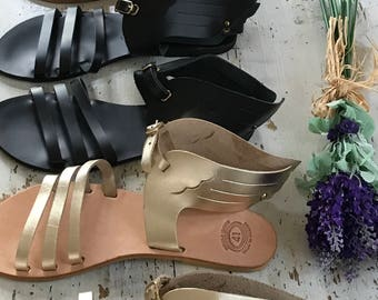 Greek Sandals,Sandales Grecques,Leather Sandals,Hermes Sandals,Wing Sandals,Sandales Greek,Ancient Greek Sandals, Women's Wings Sandals