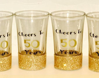Shot Glasses: Set, Cheers to; Group of 4; Group; Set