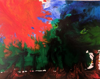 "Original Abstract Painting (on canvas in acrylic paint) - ""Global Warming"""
