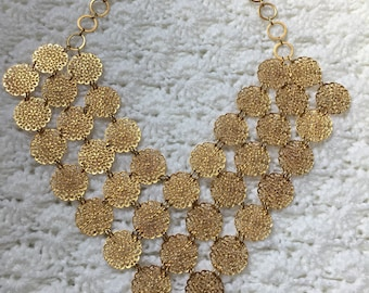 1960's V/Heart Shaped Large Necklace Gorgeous