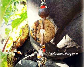 The Key to Peace Adjustable Amulet Necklace