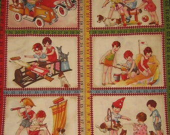 Wee Play by American Jane Patterns Sandy Klop for Moda Fabrics ( # 21088 ) ( 23 x 44 inches )