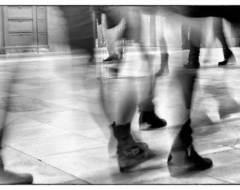 Abstract Art // Fine Art Photograph // NYC // New York City // Busy People // Black and White // Christmas Gift