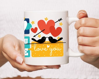 """Cute """"You Are Loved"""" Coffee Mug   Great For That Special Someone   Full of Caffeinated Love   Great Way to Read """"I Love You"""""""