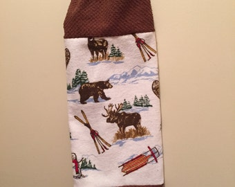 Plastic Grocery Bag Holder - Moose - Bear - Woods - Shopping Bag Dispenser