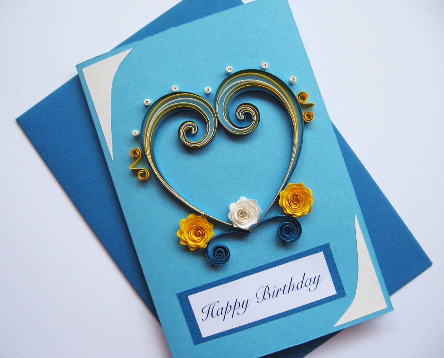 Husband Birthday Card Valentines Day Card Quilling