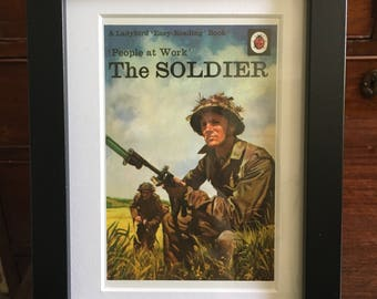 Retro Ladybird Book cover. The Soldier