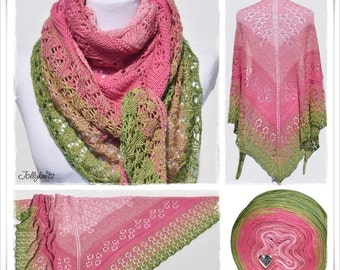 Knitting Pattern Lace Shawl Tulip