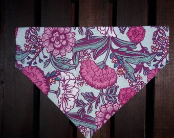 Floral Bandana | Dog Bandana | Over the Collar