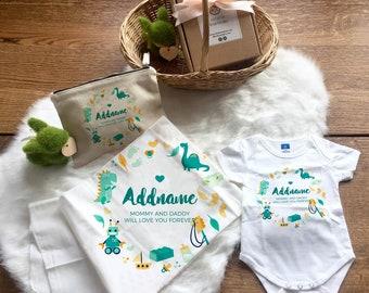 Cute Dinosaur Newborn Baby Custom Gift Set (FREE Zipper Pouch)