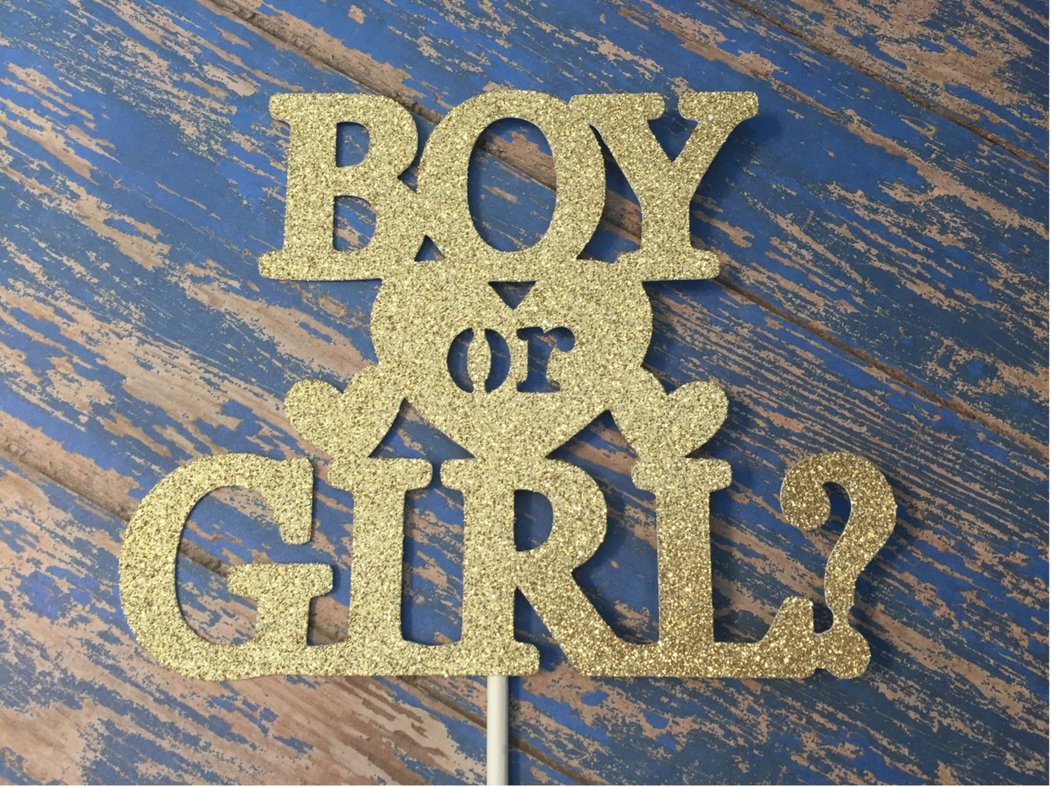 Gender Reveal Cake Topper Boy or Girl Cake Topper Baby