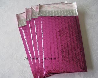 25 Hot Pink Bubble Mailer, Bubble Mailers, Mailing Envelope, Shipping Envelopes, Metallic Mailers, Self Seal Envelopes, Padded Mailers 4x8