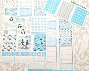 Penguins In The Snow Weekly Kit (Set of 38) Item #048