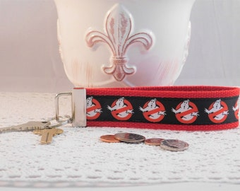 Keychain Wristlet Made With Ghostbusters Inspired Ribbon