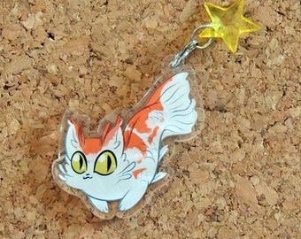Koicat Catfish Acrylic Keychain Charm