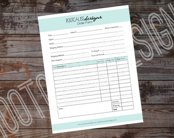 Order Form Printable | Customizable Order Form