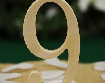 Wedding Table Numbers, Freestanding Numbers, Wedding Decoration, Price per Number, Wood Table Number, Party Event Decor, Anniversary Decor