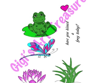 Clear Acrylic Stamps - Gigi's Art Treasures© - Toadally Awesome