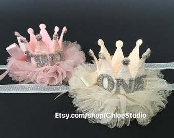 Crown Headband,Party Headband,baby crown,Baby Headband,baby shower gift,first birthday,ballerina headband,ballerina tulle crown,baby crown