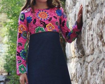 Heidi Girl Dress ; comfy dress ; play dress ; Gypsy dress ;tank dress