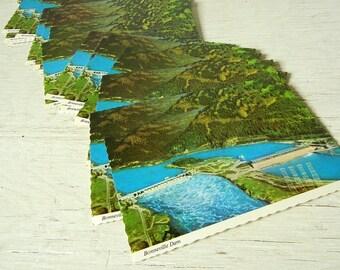 Oregon Columbia River Gorge Postcards | 1970s | Bonneville Dam | Save the Date Cards | Vintage Wedding Invitations