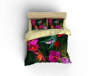 Hawaiian Print duvet covers,Hawaiian Bedding,Hibiscus Bedding,Aloha living,Hawaiian culture,Island living,Kauai,Maui,Big island,Oahu bedding