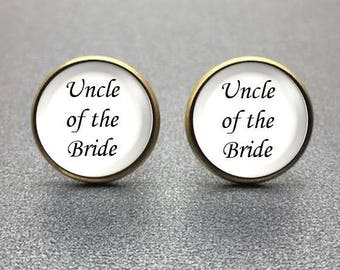Uncle of the Bride Cufflinks, Personalized Cufflinks